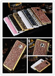 For Samsung Galaxy S7 Edge Jelly Diamond Hard Back Cover Case For iPhone 5 5S SE 6s Plus For Samsung Galaxy S6 Edge