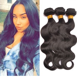 Peruvian Indian Malaysian Mongolian Brazilian Virgin Body Wave Hair Weave Bundles Cheap Remy Human Hair Extensions Natural Color 1B