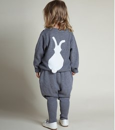 Wholesale INS New Children Sweaters Boys and Girls cute Bunny Winter Casual Children Knit Rabbit Kids Babies Boys Sweaters Clothing Colors MC0317