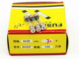 100pcs lot 30A 6*30MM Fuses Fast Quick Blow Glass Tube Fuse 6x30mm 250V 30A F30AL250V