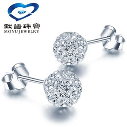 Wholesale Austria Xiangbala S925 Silver Sterling Silver Earrings Crystal Jewelry Sterling Silver Diamond Earrings a popularity of mother s Day