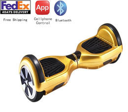 6.5inch APP Cellphone Controlled Smart Electric Balance Scooter Kick Scooter hoverboard electric skateboard Bluetooth Free Shipping