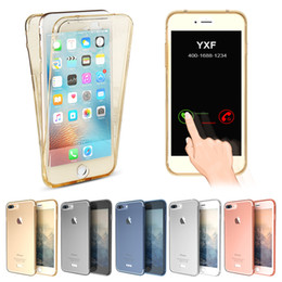 Fashion 360 Front+Back Full Coverage Transparent Phone Case for iPhone 5s 6s 6s plus 7 7 Plus Soft TPU Capa Shell