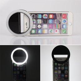 Descuento anillo de luz led de la cámara Portable Selfie LED anillo de flash de la cámara fotográfica de la cámara para el teléfono móvil del iPhone