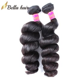 Bella Hair® 8A Unprocessed Brazilian Hair Weave Cambodian Remy Virgin Hair Extensions Natural Color Loose Wave Human Hair