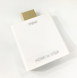 Wholesale High Definition Multimedia Interface HDMI to VGA and Audio Converter for Notebook STB DVD and other HD Devices