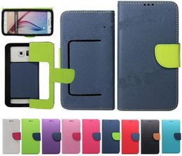 Wholesale Universal Wallet PU Flip Leather Case Credit card back Cover For to inch Cell Phone Mobile Phone