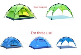 Wholesale Hot selling Desert Fox outdoor tent full automatic tent double anti heavy rain and many people camping camping equipment tent