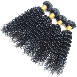 2017 peut teindre remy extensions de cheveux remy indiens bouclés cheveux humains 4 paquets de couleur naturelle peuvent être teints et blanchies 4 pièces / lot de grandes extensions de cheveux longueurs peut teindre remy extensions de cheveux autorisation