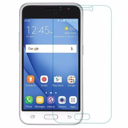 Thickness Protective Tempered Glass Film Screen Protector for Samsung Galaxy J1 J3 Emerge G360 G530H G530F On5 Paper Package 10 in 1 Box