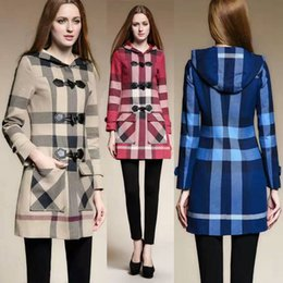 Wholesale Best Sales Women Long Ask Woolen Overcoat British London Vintage Style Fashion Brand New Designer Lady Christmas Gift Fast Shipping BC1202