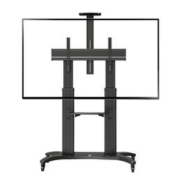 """High Grade Aluminum NB AVF 1800-70-1P TV Mobile Cart 55""""-70"""" Free Lifting LED LCD Plasma TV Trolley Stand With AV Shelf"""