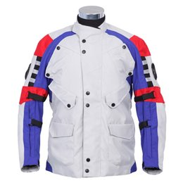 Wholesale Compressed Windproof Motocycle Riding Jackets Anti Pilling Coldproof Nylon Waterproof Breathable Adjustable Quick Dry Mens Racing Jackets