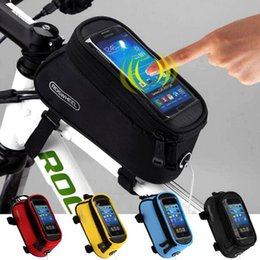 B-03 ROSWHEEL Cycling Bike Bicycle bags panniers Frame Front Tube Bag For Cell Phone MTB Bike Touch Screen BICYCLE PHONE bag