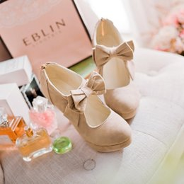 size big 34-43 new 2019 Fashion Platform High Heels Women Pumps Spring Summer Autumn Bowtie Women Shoes Woman No.A