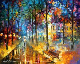 Leonid Afremov decoration oil painting, colors of my past - famous artist reproduction
