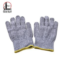 Wholesale Sinopec Yizheng Chemical Fibre Company Limited UHMWPE Dyneema Non Dipping Protection Gloves Third Degree Cutting Proof