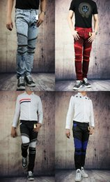 Wholesale Fashion Robin Zipper Jeans Men Classic Biker Jeans Wash Studded Cowboy Slim Denim Trousers with Wings American Flag Jean Mens Skinny Pants