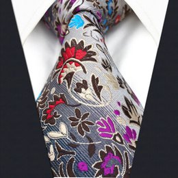 P12 Fashion Floral Pattern Multicolor Mens Ties Necktie 100% Silk Extra Long Size New Jacquard Woven