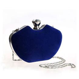 Clutch bags Crystal Evening bags Handbags Bridesmaid clutches Banquet purses Velvet rhinestone Diamond Wedding messenger with Chain