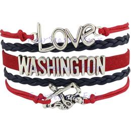 Custom-Infinity Love National Hockey League Washington Capitals Bracelet Ice Hockey Player Fans Adjustable Bracelet Bangles-Drop Shipping