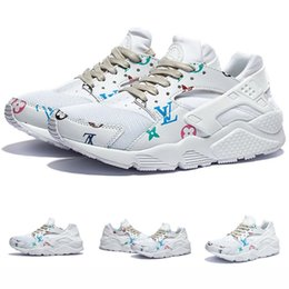 Wholesale 2016 New Air Huarache Ultra Running Shoes Huaraches Rainbow Ultra Breathe Shoes Men And Women Huraches HARACHE White Multicolor Kids shoes