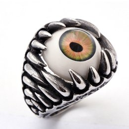 Eye Ring,Titanium Inlay Diamond Ring,Unisex Silver-Plated accessories,Factory Retail Jewelry,Fashion Gift Ring