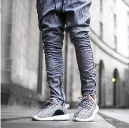 Wholesale 2016 Sweatpants Justin Bieber Kanye Fear of God Trousers Mens Joggers Jumpsuit Urban Clothing Casual Harem Men Pants