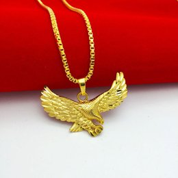 Pendant+Necklace Punk Style Unique Design Gold Plated Fashion Necklace for Woman Mens Unisex Luxury Eagle Shape Locket Necklace