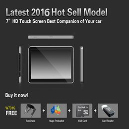 Wholesale 7 inch Car GPS Nnavigator Navigator Win CE With MB GB MTK Multilingual Free Multi country D Map