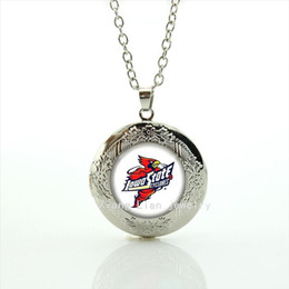 Fashion body jewelry locket necklace Lowa State Cyclones rugby jewelry football sport party accessory for men and boys NF069
