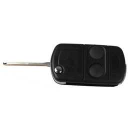 Guaranteed 100% 2 Buttons Flip Car Replacement Keyless Flip Remote Fob Key Shell Case For Freelander MK1 TD4 TD5 Free Shipping