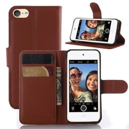 Universal PU Leather wallet Case for Ipod Touch 5 & 6 cover case slot card wallet stand holder case