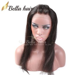 """8A 3 Part 360 Lace Frontal Band 100% Virgin Human Hair Weaves Lace Frontal Straight Peruvian Hair Extensions Natural Color 10""""-18"""" Bellahair"""