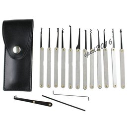 Good quality 12pcs Lock Picks Sets Stainless Handles w  Bag Removing Key Set Lockpick Locksmith Tools Lock Opener Unlock Door