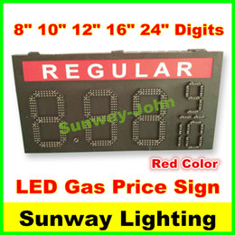 Wholesale High Bright Gas station led gas price sign inches digits LED fuel price sign red color