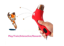 PET TREAT LAUNCHER Food Throw Feeder Toy Dogs Train Interactive Toys Play With Dog free shipping HK67
