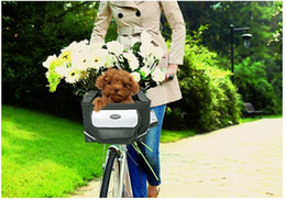 Wholesale Two in One Deluxe Pet Carrier and Bicycle Basket Color Portable Dog friendly Package Dog Carriers Bike Basket Dog Cat Pet Crates