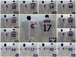Wholesale A Chicago Cubs men Ron Santo Kris Bryant Schwarber Ernie Banks Jason Heyward Anthony Rizzo Jake Arrieta signature jersey