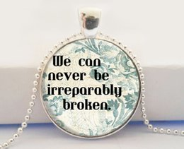 Wholesale Book Quote Charm pendant The Fault in Our Stars pendant necklace John Green Art Glass Dome Pendant Necklace
