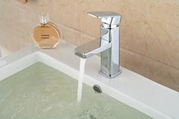 Wholesale Hot Sale Chrome Brass Bathroom Basin Faucet Single Handle Hole Vanity Sink Mixer Tap Hot Cold Mixer