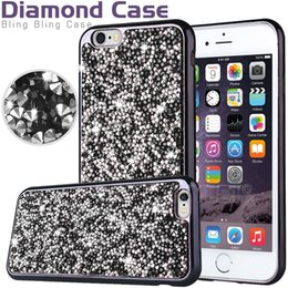 Wholesale Diamond TPU Iphone Case Crystal Luxury Glitter Bling Flash Power Soft Case For LG K4 K8 K7 K10 iphone S plus Jewelry Case Opp Bag