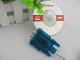Wholesale 100pcs USB to RS232 RS Converter COM Port Serial PDA Pin DB9 Cable Adapter