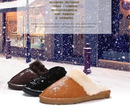 Wholesale best Warm cotton slippers Men And Womens slippers Short bootlis Women s boots Snow boots Brand Designer Indoor cotton slippers Leather boots