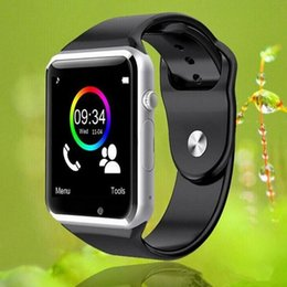 Wholesale New A1 Smart Watch Bluetooth Smartwatch Phone Support SIM TF Card Smart Watches With Silicone Strap Smartphone VS GT08 DZ09 U8