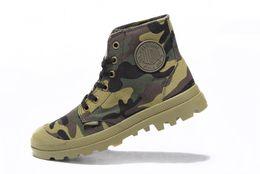 Wholesale Slip Shoes Men Cowboy - Brand New Canvas Men casual shoes Fashion Camouflage shoes Palladiu high-top men non-slip outdoor sports boots