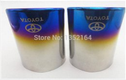 Wholesale For Toyota RAV4 pc Stainless steel exhaust pipe tail pipe muffler auto accessories