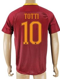 Wholesale Thai Quality Customized TOTTI Rome Soccer Jersey Shirts top DZEKO Football Jerseys Tops GYOMBER NAINGGOLAN PEROTTI Soccer WEAR