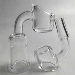 3mm thick quartz banger with 10mm 14mm male female short neck quartz nail domeless 45 degree 90 degree for water pipe