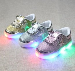 Wholesale 2016 Children led light Shoes For Kids USB Charging Sole Luminous Sneakers kids Led Shoes Girls Boys Light Shoes With angel Wings